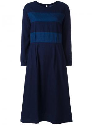 Платье в полоску Blue Japan. Цвет: синий