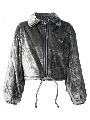Стеганая куртка-бомбер Opening Ceremony. Цвет: серый