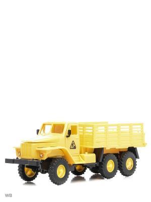 Машина спецтехника грузовик бортовой кузов Drift. Цвет: желтый