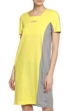 Платье Oblique. Цвет: желтый
