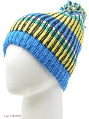 Шапка BUFF KNITTED HATS TROY BLUE. Цвет: синий