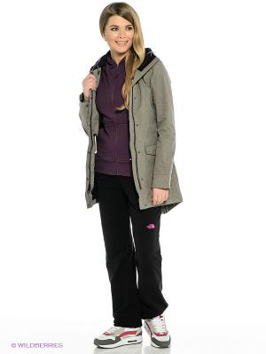 Куртка The North Face. Цвет: серо-коричневый