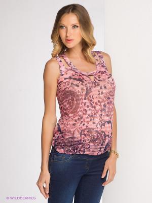 Блузка Gemko. Цвет: розовый, темно-синий