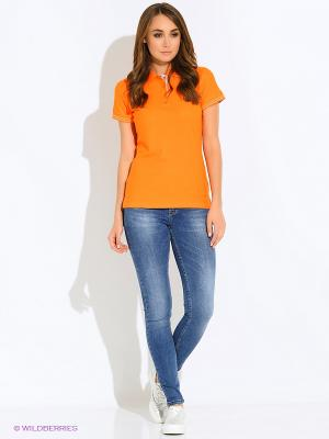 Футболка-поло F5. Цвет: оранжевый