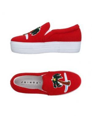 Низкие кеды и кроссовки JOSHUA*S. Цвет: красный