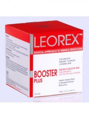 Гипоаллергенная нано-маска для экспресс-разглаживания морщин 50+ Booster Plus, 3,3 мл х 30 шт. Leorex. Цвет: белый