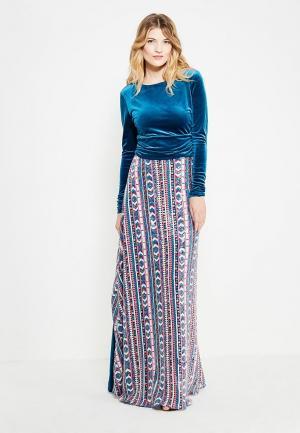 Платье Sahera Rahmani. Цвет: бирюзовый