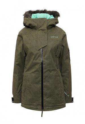 Куртка горнолыжная Animal. Цвет: зеленый