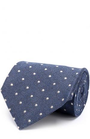 Галстук из смеси шелка и шерсти Tom Ford. Цвет: синий