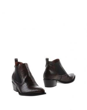 Полусапоги и высокие ботинки F.LLI BRUGLIA. Цвет: какао