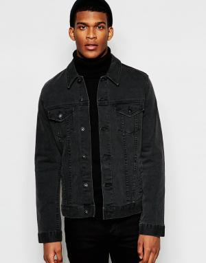 ASOS Черная джинсовая куртка Richard. Цвет: черный