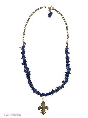 Ожерелье Polina Selezneva. Цвет: синий, золотистый