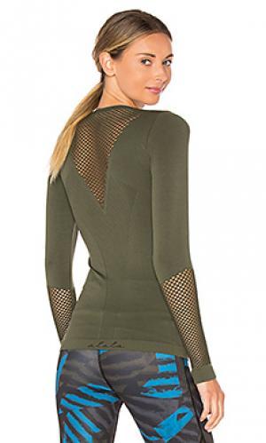 Бесшовная футболка с длинным рукавом ALALA. Цвет: военный стиль