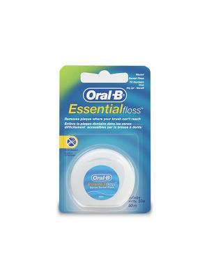 Зубная нить Essential floss мятная 50м ORAL_B. Цвет: голубой