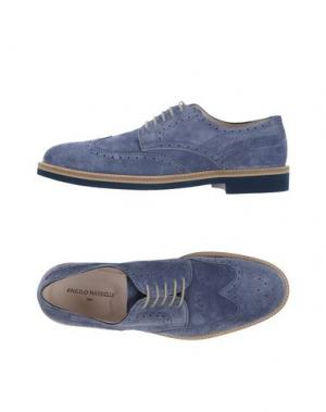 Обувь на шнурках ANGELO NARDELLI. Цвет: грифельно-синий
