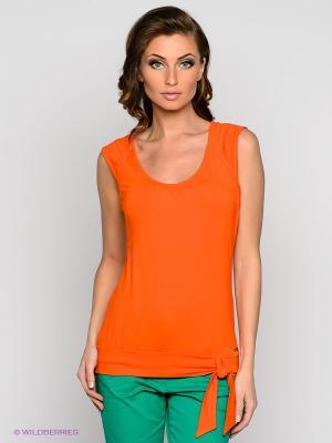 Топ VILA JOY. Цвет: оранжевый