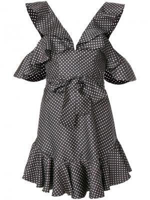 Платье с V-образным вырезом Zimmermann. Цвет: чёрный