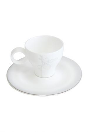 Набор чайных пар, 6 шт Tognana. Цвет: белый