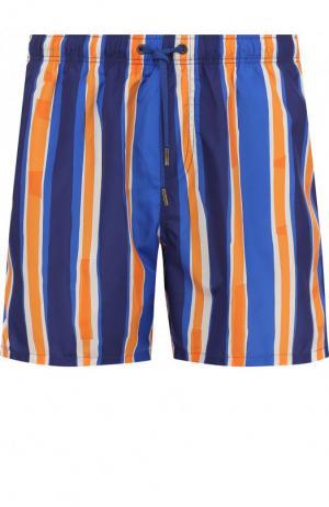 Плавки-шорты в полоску Ermenegildo Zegna. Цвет: оранжевый