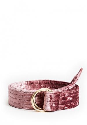Ремень Mango. Цвет: розовый