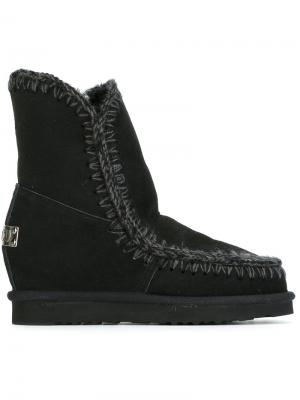 Зимние ботинки Eskimo Mou. Цвет: чёрный