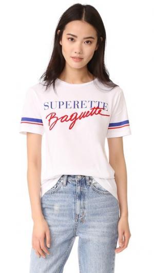 Футболка Superette Baguette Etre Cecile. Цвет: белый