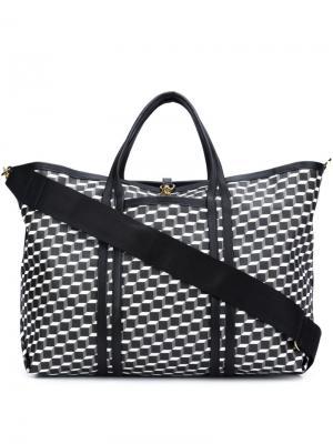 Дорожная сумка с кубическим принтом Pierre Hardy. Цвет: чёрный