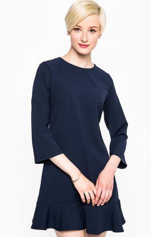 Платье POIS. Цвет: синий