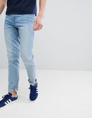 ASOS Голубые джинсы скинни DESIGN. Цвет: синий