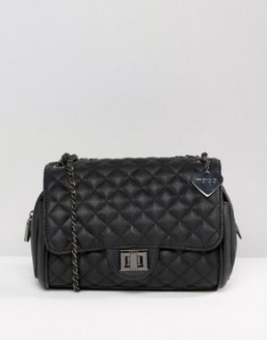 Marc B Стеганая сумка на плечо Knightsbridge. Цвет: черный