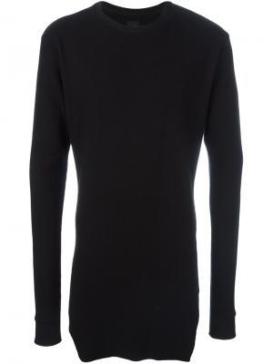 Удлиненный свитер в рубчик Thom Krom. Цвет: чёрный