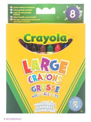 Набор  больших смываемых восковых мелков Crayola. Цвет: зеленый, желтый