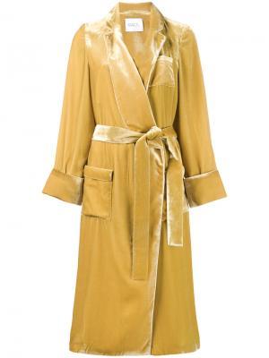 Пальто с поясом Racil. Цвет: жёлтый и оранжевый