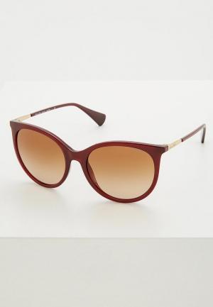 Очки солнцезащитные Ralph Lauren. Цвет: бордовый