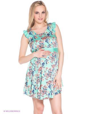Платье для беременных 40 недель. Цвет: бирюзовый, бежевый, синий