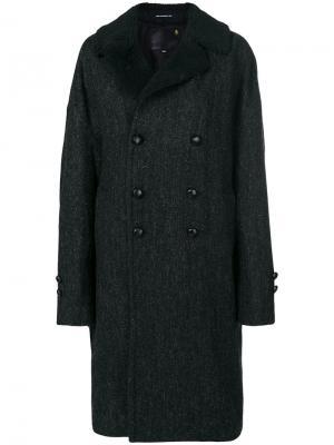 Двубортное пальто R13. Цвет: чёрный