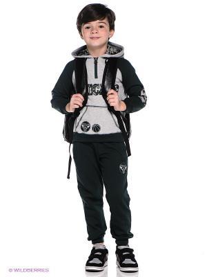 Спортивный костюм Oldos. Цвет: темно-зеленый, серый