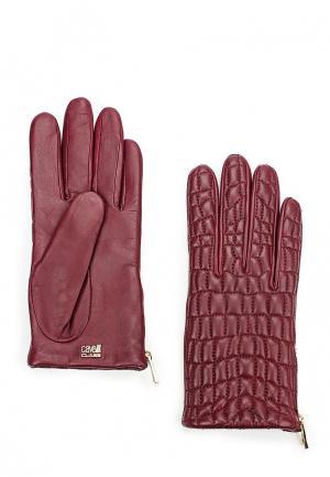 Перчатки Cavalli Class. Цвет: бордовый