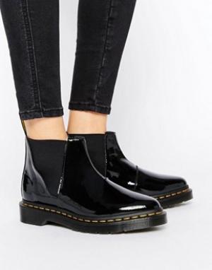 Dr Martens Черные лакированные ботинки челси Bianca. Цвет: черный