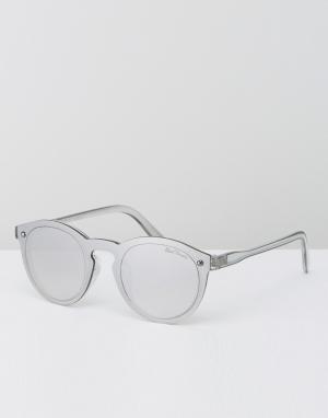 Black Phoenix Зеркальные солнцезащитные очки. Цвет: серебряный