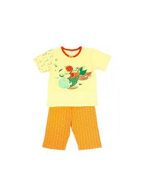 Пижама Модамини. Цвет: желтый, зеленый, оранжевый
