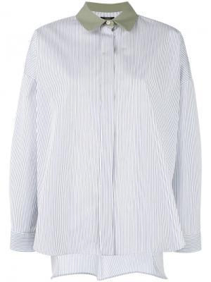 Полосатая рубашка Odeeh. Цвет: белый