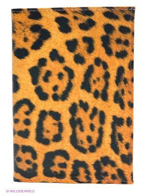 Обложка для паспорта Mitya Veselkov. Цвет: светло-оранжевый, черный