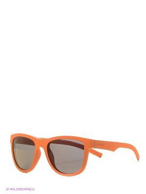 Солнцезащитные очки Polaroid. Цвет: рыжий, черный