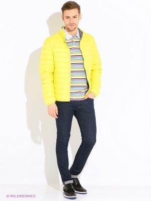 Куртка United Colors of Benetton. Цвет: светло-желтый