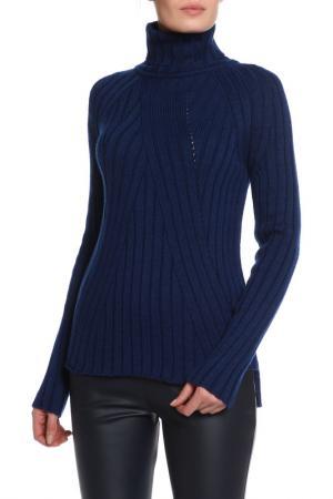 Полуприлегающий свитер с высоким воротом MAYBAE. Цвет: синий