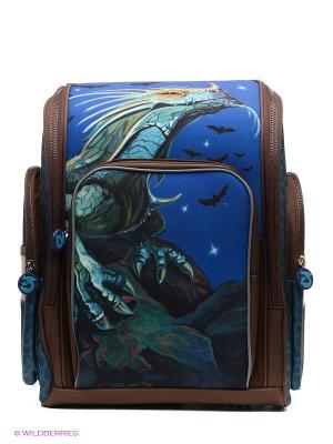 Рюкзак PROFF. Цвет: синий, зеленый, коричневый