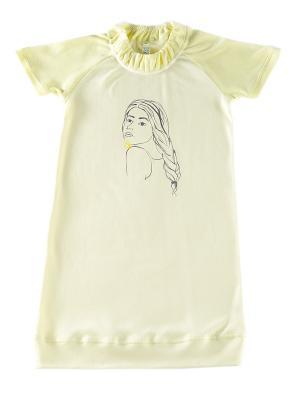 Сорочка ночная Юная леди ВЕНЕЙЯ. Цвет: светло-желтый