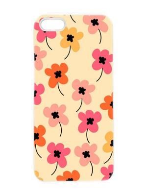 Чехол для iPhone 5/5s Лютики в желтых тонах Арт. IP5-094 Chocopony. Цвет: персиковый, рыжий, бежевый