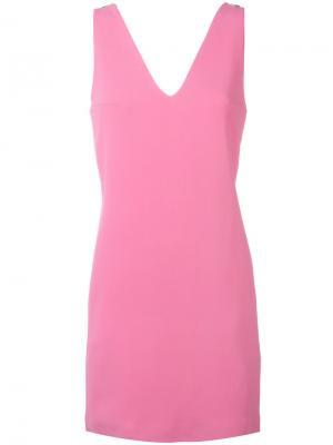 Платье шифт с V-образным вырезом Dondup. Цвет: розовый и фиолетовый